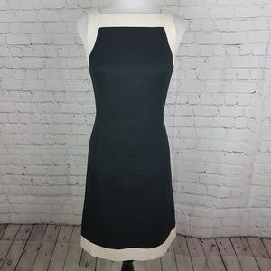 Ann Taylor Black & White Sheath Career Dress